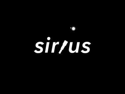 Sirius. Idea logo idea concept universe cosmos space telescope sirius-a star sirius