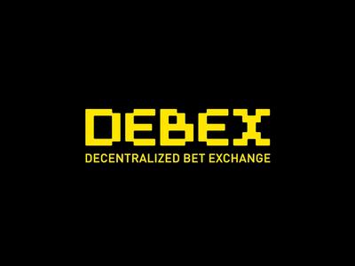 Debex. Decentralised bet exchange. Logo ecosystem blockchain logo-design sign type digital crypto logo bet