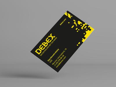 Debex. Identity identity ecosystem blockchain type logo-design logo digital crypto bet
