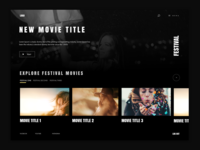 Festival Streaming Homepage Concept