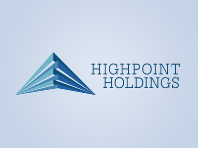 Highpoint Holdings Logo identity logo branding slab font triangles brand development
