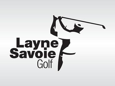 Layne Savoie Golf Logo logo brand identity golf negative space
