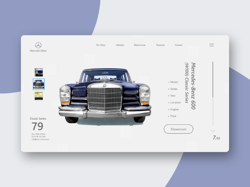 Mercedes Benz car web ux ui layout landing concept design