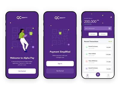 Alpha Pay fintech vector finance figma illustration design ui