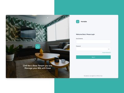 Homable login page homepage realestate fintech sign in web design adobe xd illustration design ui