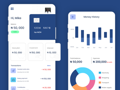 Finance bank app finance app fintech finance mobile uiux adobe xd design ui