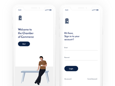 Chambers sign in vector mobile adobe xd illustration design ui