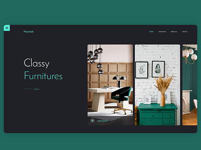 Furnish furniture web design landing page uiux adobe xd design ui