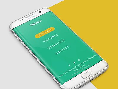 WELCOME TO MILISPACE viet nam vietnam matarial dating app flat design ui design milispace