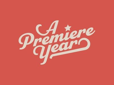 A Premiere Year documentary vector logo