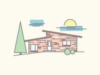 Homestead vector homestead house mid century modern