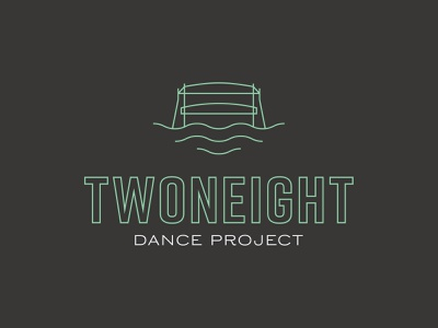 Twoneight Dance Project hand-painted signage mural paint icon bridge dance identity brand logo