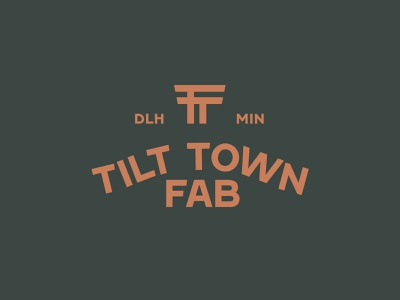 Tilt Town Fab fabrication monogram icon logo design mark thicklines vector identity brand logo