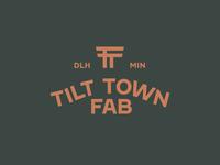 Tilt Town Fab fabrication monogram icon logo design mark thicklines vector identity brand logo