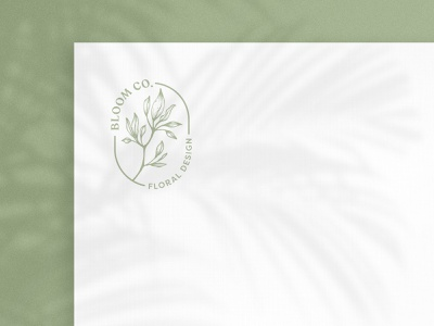 Bloom Co bloom floral mark branding vector logo design logo