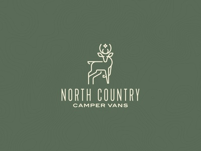 North Country Camper Vans deer camping thick lines mark identity logo
