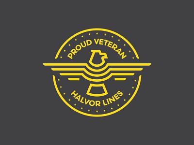 Veterans Badge logo veteran eagle icon vector illustration