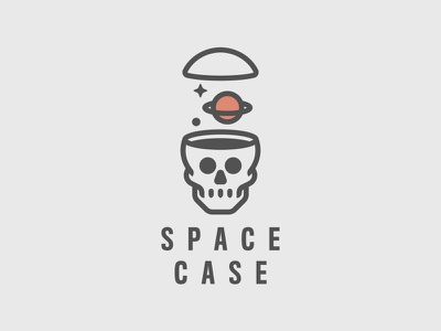 Space Case skull mark logo thick lines space