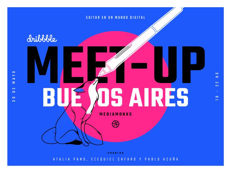 Dribbble Meetup - Buenos Aires ( Playoff ) design