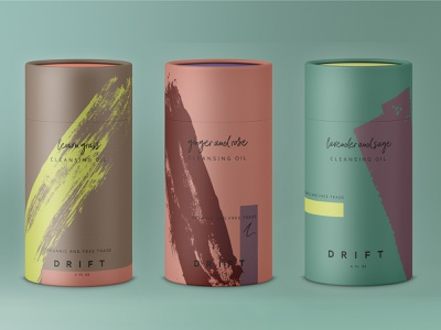 Drift Skincare Cosmetic Packaging health and beauty consumer goods consumer package goods brand and identity branding typography abstract illustration abstract package design packaging design packaging