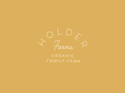 Holder Farms Logo: Condensed logo