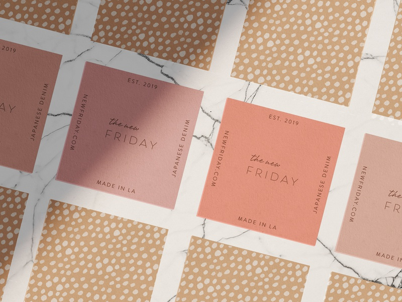 The New Friday Business Cards brand identity graphic design surface design packaging design packaging illustration design branding typography logo
