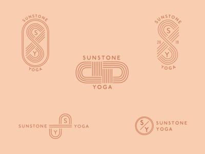 Logo exploration for Sunstone Yoga