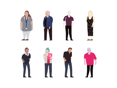 People minimal illustrator branding flat illustration vector ui design