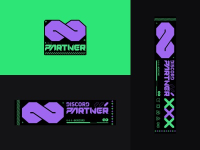 Discord Partner infinity partner type print graphic design