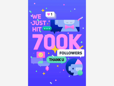 Celebrate 700K Followers on Instagram discord wumpus motion animation poster graphic design