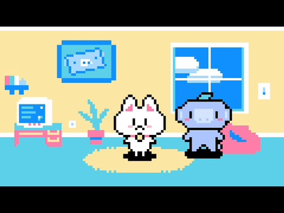 Project Wumpet illustration pet cute cat game pixel pixelart pixel art wumpus