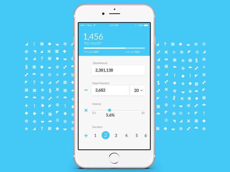 DaliyUI#04 Mortgage Calculator app ux ui