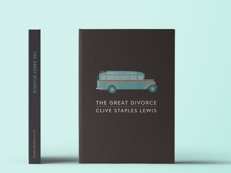 The Great Divorce Cover theology bus cover book vector c.s. lewis illustration