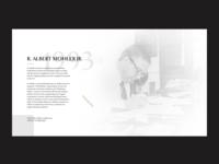 Albert Mohler Layout (exercise)