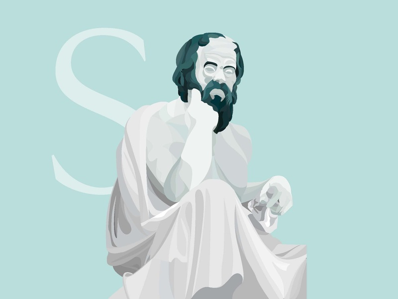 Socrates writer greek vector thinker portrait illustrator philosopher philosophy socrates