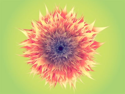 Experimental vector flower
