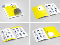 40 fingerprint characters in one zine