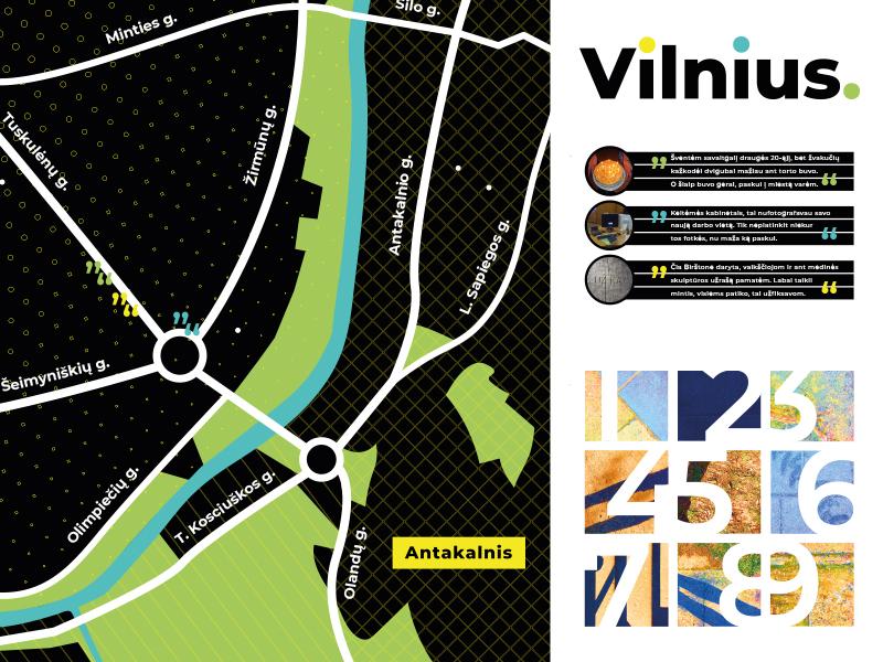 Vilnius Map Fragment maps map design layout schematic lithuania vilnius vector streets city map