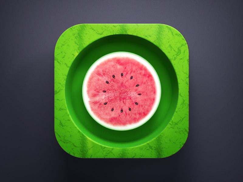 Watermelon icon 3d watermelon fruit green tsama