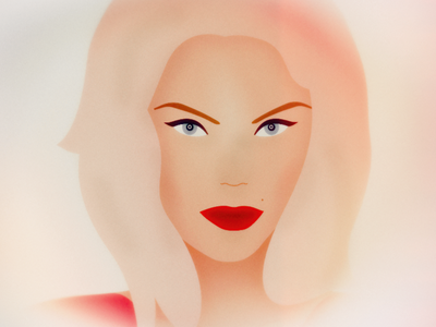 Glamour vectors blonde woman vector lips illustration face eyes affinity designer girl