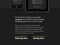 Font Game 3 Website