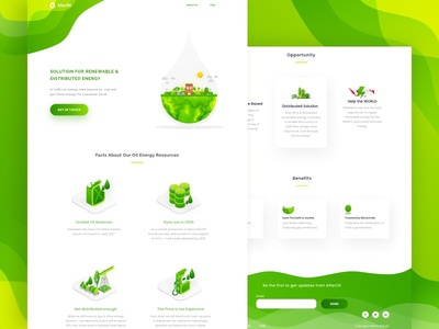 AfterOil - Landing Page