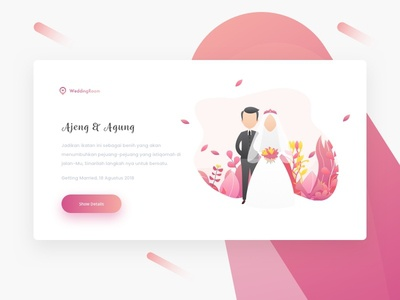 Wedding Services wedding design landing page web ui ux shot dribbble debut