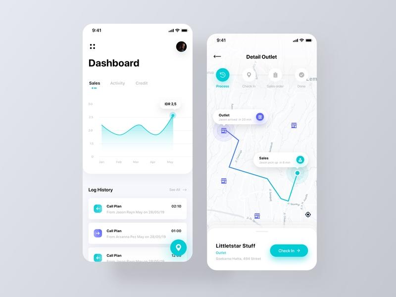 Sales Force Automation App by Friska Devina on Dribbble