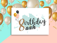 8th Birthday Bash Logo Campaign