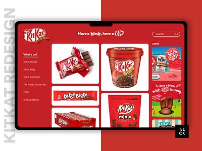 KitKat Redesign | UI Challenge #1 pandemic lockdown coronavirus minimal redesign concept redeem kitkat web design website website design ui design alok ui challenge design branding dribbble ux ui