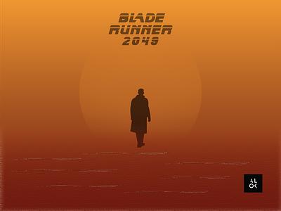 BLADE RUNNER 2049 poster art alok dribbble design poster illustration blade runner 2049 bladerunner