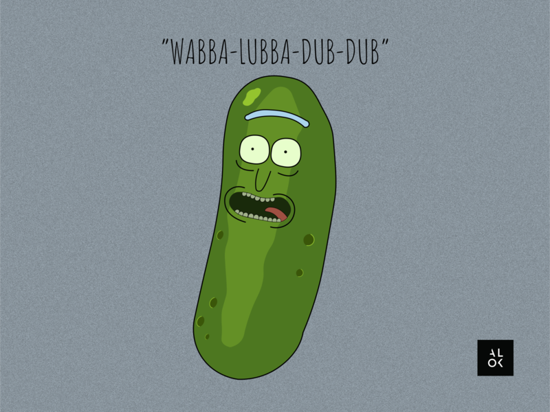 Pickle Rick | Rick and Morty character design vector cartoon illustration cartoon character poster art cartoon pickle rick rick designedbyalok alok rick and morty illustration dribbble design