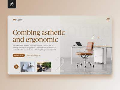 Furniture Store Website | Web Design uiux ui design ux ui furniture website web design web designedbyalok ergonomic chair furniture store website website design webdesign alok dribbble design
