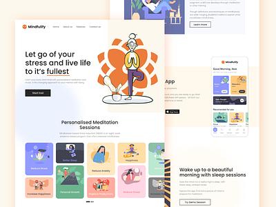 Mindfulify Site Design | Web Design design freelancer web design company web development website design web design mindfulify mindfulness meditation app meditation ux design ui design alok ux ui dribbble